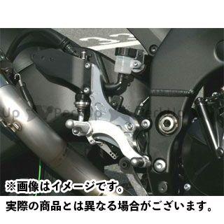 BEET ニンジャZX-10R バックステップ関連パーツ ハイパーバンク 可倒式(シルバー) 06-08年用
