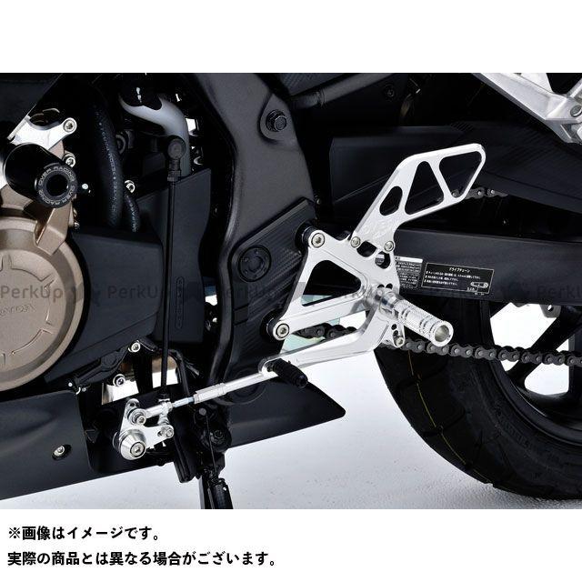 送料無料 オーバーレーシング CBR400R バックステップ関連パーツ バックステップ 4ポジション ブラック