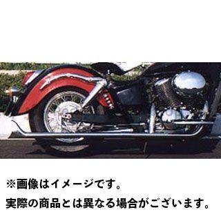 アメリカンドリームス シャドウ400 シャドウ750 マフラー本体 2in1 ストレートフィッシュマフラー サイレンサーのみ 高音タイプ(バッフル無) 750cc