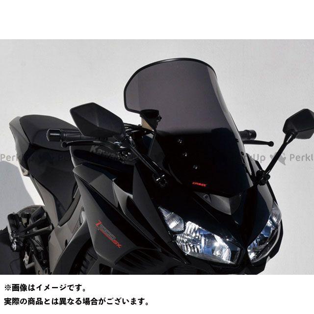 アルマックス ニンジャ1000・Z1000SX スクリーン Bulles(スタンダードタイプ) 8cmロング カラー:グレークリアー ERMAX