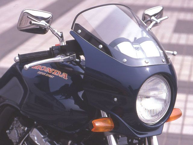 シックデザイン CB400スーパーフォア(CB400SF) カウル・エアロ ハイグレード・ビキニカウル マスカロード キャンディタヒチアンブルー クリア