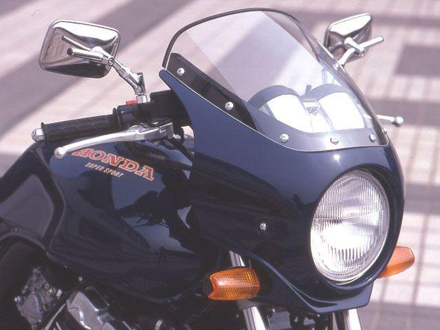 シックデザイン CB400スーパーフォア(CB400SF) カウル・エアロ ハイグレード・ビキニカウル マスカロード 未塗装(黒ゲルコート) スモーク