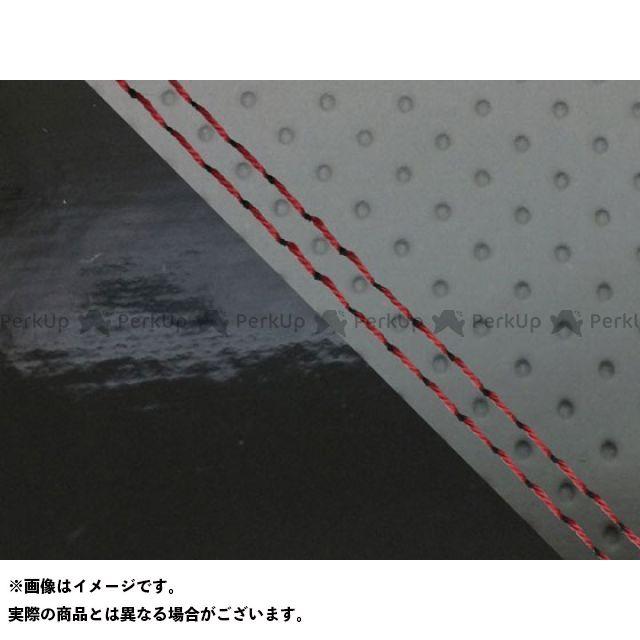 【エントリーで最大P23倍】グロンドマン MT-09 MT-09/FZ-09 国産シートカバー エンボス灰&エナメル黒 タイプ:張替 仕様:赤ダブルステッチ Grondement