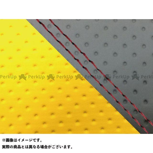 【エントリーで最大P23倍】グロンドマン MT-09 MT-09/FZ-09 国産シートカバー エンボス灰&エンボスイエロー タイプ:張替 仕様:赤ダブルステッチ Grondement