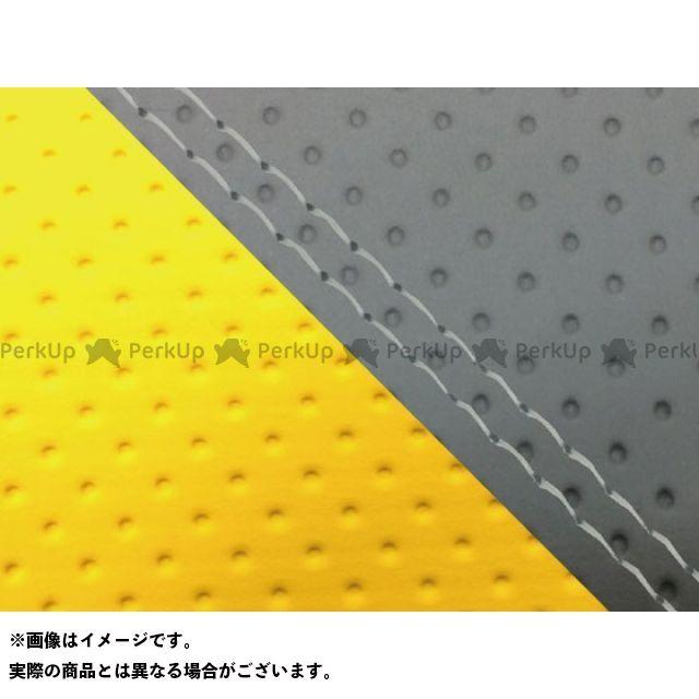 【エントリーで最大P23倍】グロンドマン MT-09 MT-09/FZ-09 国産シートカバー エンボス灰&エンボスイエロー タイプ:張替 仕様:透明ダブルステッチ Grondement