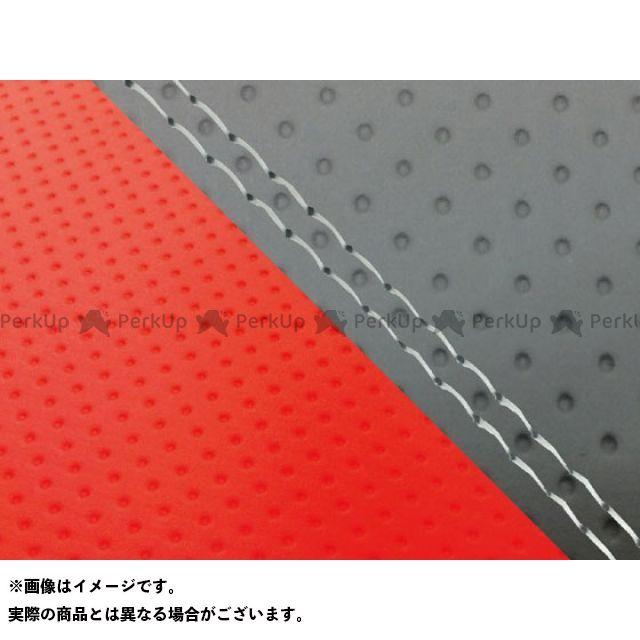 【エントリーで最大P23倍】グロンドマン MT-09 MT-09/FZ-09 国産シートカバー エンボス灰&エンボスレッド タイプ:張替 仕様:透明ダブルステッチ Grondement