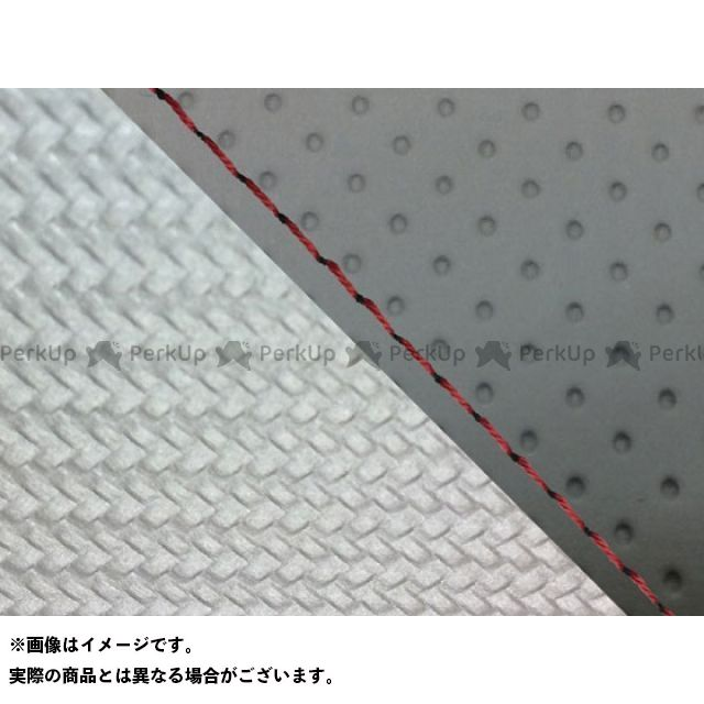 グロンドマン MT-09 MT-09/FZ-09 国産シートカバー エンボス灰&カーボン銀 タイプ:張替 仕様:赤ステッチ Grondement