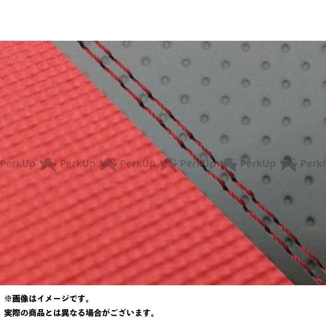 グロンドマン MT-09 MT-09/FZ-09 国産シートカバー エンボス灰&スベラーヌ黒 タイプ:張替 仕様:赤ダブルステッチ Grondement