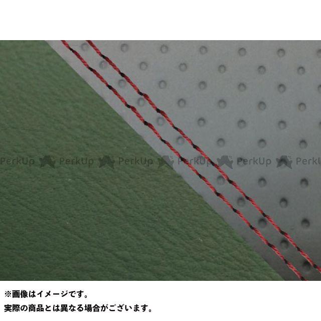 【エントリーで最大P23倍】グロンドマン MT-09 MT-09/FZ-09 国産シートカバー エンボス灰&ダークグリーン タイプ:張替 仕様:赤ダブルステッチ Grondement