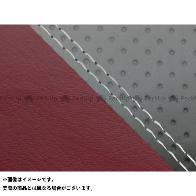 グロンドマン MT-09 MT-09/FZ-09 国産シートカバー エンボス灰&ワインレッド タイプ:張替 仕様:透明ダブルステッチ Grondement