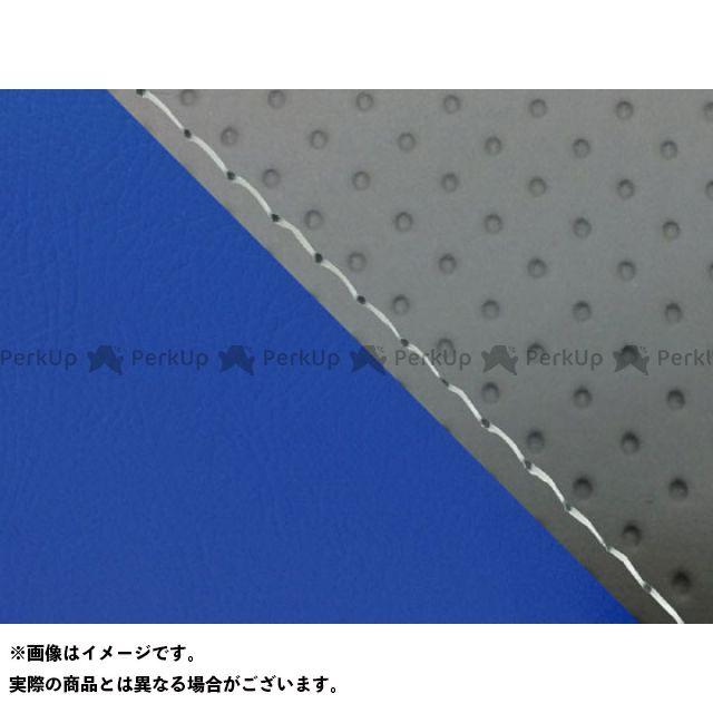 グロンドマン MT-09 MT-09/FZ-09 国産シートカバー エンボス灰&青 タイプ:張替 仕様:透明ステッチ Grondement