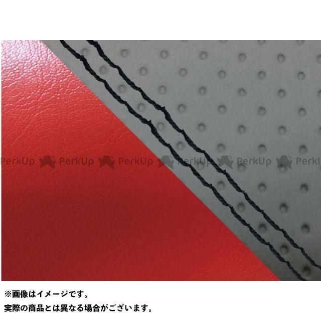 グロンドマン MT-09 MT-09/FZ-09 国産シートカバー エンボス灰&赤 タイプ:張替 仕様:黒ダブルステッチ Grondement