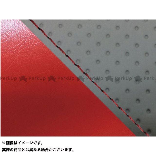 グロンドマン MT-09 MT-09/FZ-09 国産シートカバー エンボス灰&赤 タイプ:張替 仕様:赤ステッチ Grondement