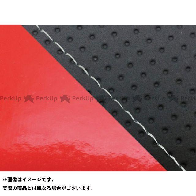 グロンドマン MT-09 MT-09/FZ-09 国産シートカバー エンボス黒&エナメルレッド タイプ:張替 仕様:透明ステッチ Grondement