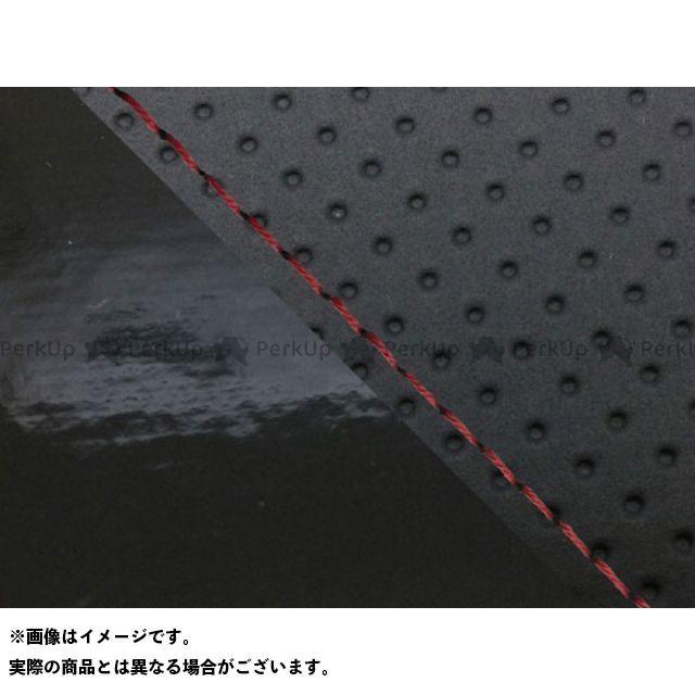グロンドマン MT-09 MT-09/FZ-09 国産シートカバー エンボス黒&エナメル黒 タイプ:張替 仕様:赤ステッチ Grondement