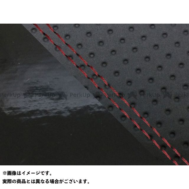 グロンドマン MT-09 MT-09/FZ-09 国産シートカバー エンボス黒&エナメル黒 タイプ:張替 仕様:赤ダブルステッチ Grondement