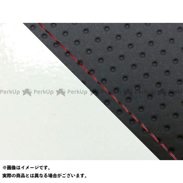 グロンドマン MT-09 MT-09/FZ-09 国産シートカバー エンボス黒&エナメル白 タイプ:張替 仕様:赤ステッチ Grondement