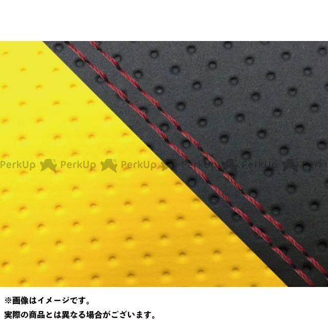 グロンドマン MT-09 MT-09/FZ-09 国産シートカバー エンボス黒&エンボスイエロー タイプ:張替 仕様:赤ダブルステッチ Grondement