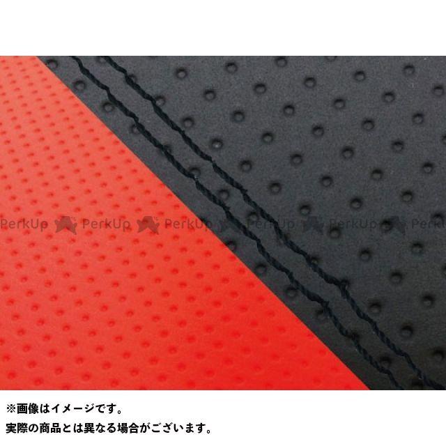 グロンドマン MT-09 MT-09/FZ-09 国産シートカバー エンボス黒&エンボスレッド タイプ:張替 仕様:黒ダブルステッチ Grondement