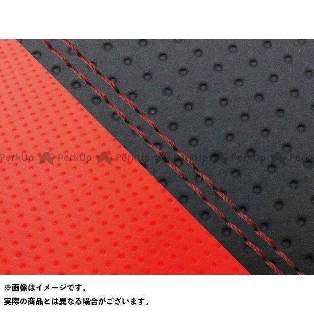 グロンドマン MT-09 MT-09/FZ-09 国産シートカバー エンボス黒&エンボスレッド タイプ:張替 仕様:赤ダブルステッチ Grondement