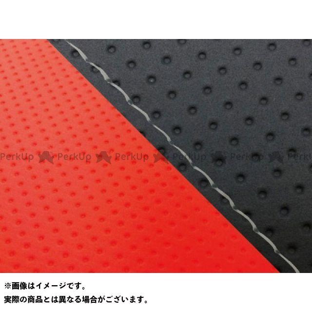 グロンドマン MT-09 MT-09/FZ-09 国産シートカバー エンボス黒&エンボスレッド タイプ:張替 仕様:透明ステッチ Grondement