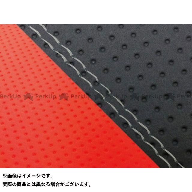 グロンドマン MT-09 MT-09/FZ-09 国産シートカバー エンボス黒&エンボスレッド タイプ:張替 仕様:透明ダブルステッチ Grondement