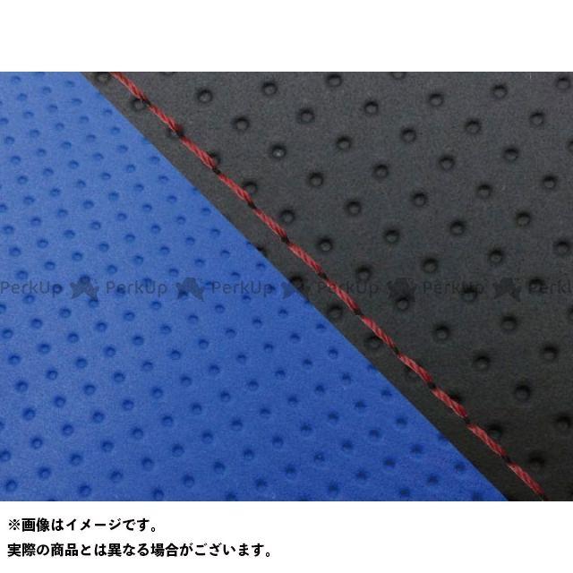 グロンドマン MT-09 MT-09/FZ-09 国産シートカバー エンボス黒&エンボス青 タイプ:張替 仕様:赤ステッチ Grondement