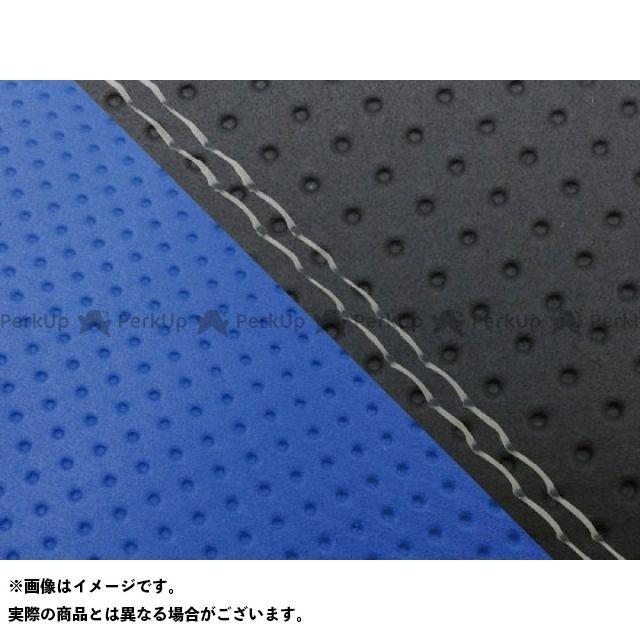 グロンドマン MT-09 MT-09/FZ-09 国産シートカバー エンボス黒&エンボス青 タイプ:張替 仕様:透明ダブルステッチ Grondement