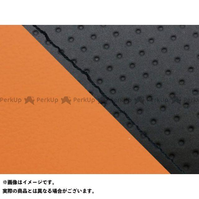 グロンドマン MT-09 MT-09/FZ-09 国産シートカバー エンボス黒&オレンジ タイプ:張替 仕様:黒ステッチ Grondement