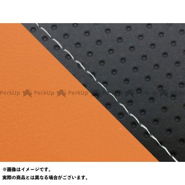 グロンドマン MT-09 MT-09/FZ-09 国産シートカバー エンボス黒&オレンジ タイプ:張替 仕様:透明ステッチ Grondement