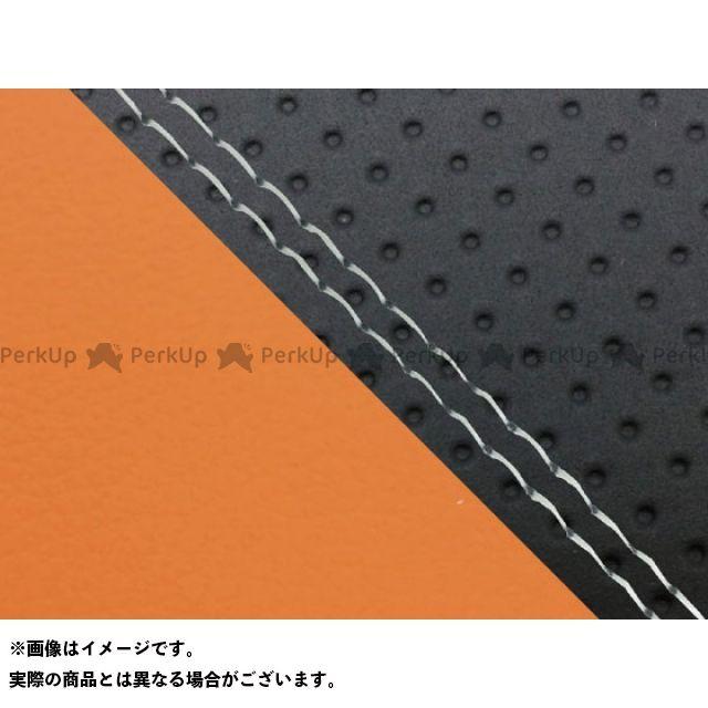 グロンドマン MT-09 MT-09/FZ-09 国産シートカバー エンボス黒&オレンジ タイプ:張替 仕様:透明ダブルステッチ Grondement
