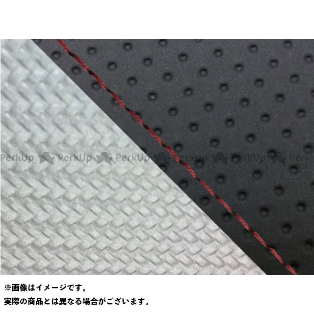 グロンドマン MT-09 MT-09/FZ-09 国産シートカバー エンボス黒&カーボン銀 タイプ:張替 仕様:赤ステッチ Grondement