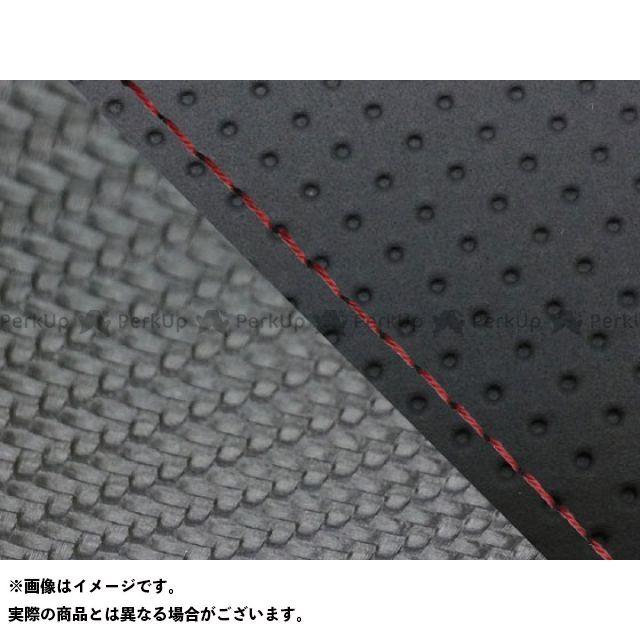 グロンドマン MT-09 MT-09/FZ-09 国産シートカバー エンボス黒&カーボン黒 タイプ:張替 仕様:赤ステッチ Grondement