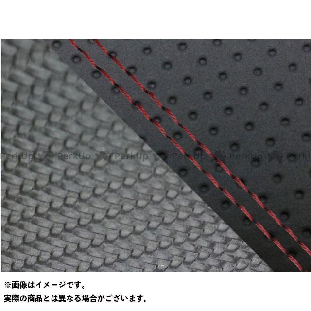 グロンドマン MT-09 MT-09/FZ-09 国産シートカバー エンボス黒&カーボン黒 タイプ:張替 仕様:赤ダブルステッチ Grondement