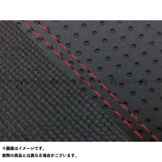 グロンドマン MT-09 MT-09/FZ-09 国産シートカバー エンボス黒&スベラーヌ黒 タイプ:張替 仕様:赤ダブルステッチ Grondement
