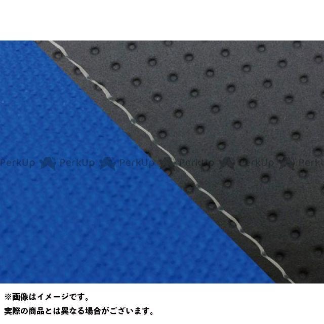 グロンドマン MT-09 MT-09/FZ-09 国産シートカバー エンボス黒&スベラーヌ青 タイプ:張替 仕様:透明ステッチ Grondement