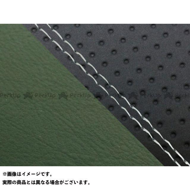 グロンドマン MT-09 MT-09/FZ-09 国産シートカバー エンボス黒&ダークグリーン タイプ:張替 仕様:透明ダブルステッチ Grondement