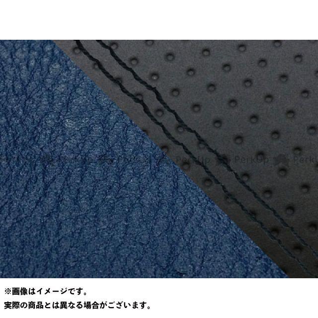 グロンドマン MT-09 MT-09/FZ-09 国産シートカバー エンボス黒&ネイビー タイプ:張替 仕様:黒ダブルステッチ Grondement