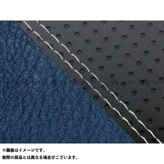 グロンドマン MT-09 MT-09/FZ-09 国産シートカバー エンボス黒&ネイビー タイプ:張替 仕様:透明ダブルステッチ Grondement