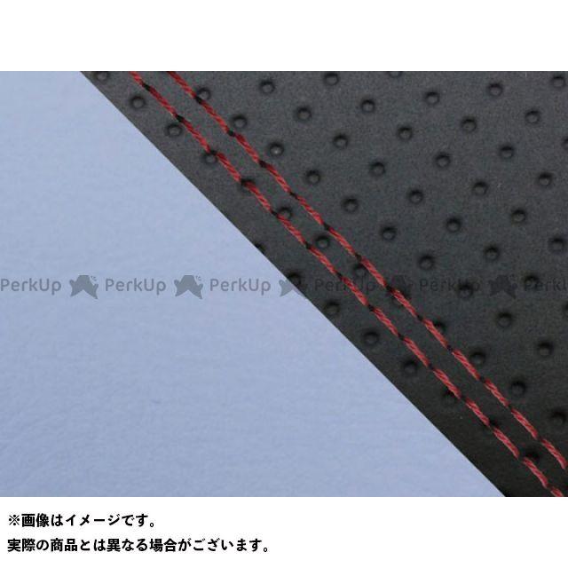 グロンドマン MT-09 MT-09/FZ-09 国産シートカバー エンボス黒&ライト青 タイプ:張替 仕様:赤ダブルステッチ Grondement
