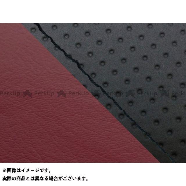 グロンドマン MT-09 MT-09/FZ-09 国産シートカバー エンボス黒&ワインレッド タイプ:張替 仕様:黒ステッチ Grondement