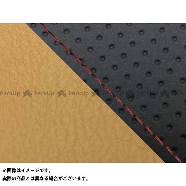 グロンドマン MT-09 MT-09/FZ-09 国産シートカバー エンボス黒&黄土色 タイプ:張替 仕様:赤ステッチ Grondement