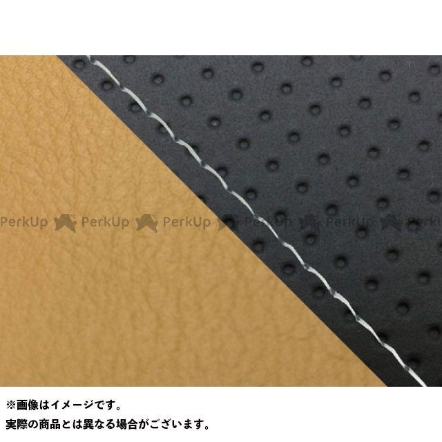 グロンドマン MT-09 MT-09/FZ-09 国産シートカバー エンボス黒&黄土色 タイプ:張替 仕様:透明ステッチ Grondement