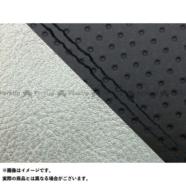 グロンドマン MT-09 MT-09/FZ-09 国産シートカバー エンボス黒&銀 タイプ:張替 仕様:黒ダブルステッチ Grondement