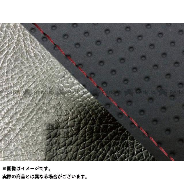 グロンドマン MT-09 MT-09/FZ-09 国産シートカバー エンボス黒&黒 タイプ:張替 仕様:赤ステッチ Grondement