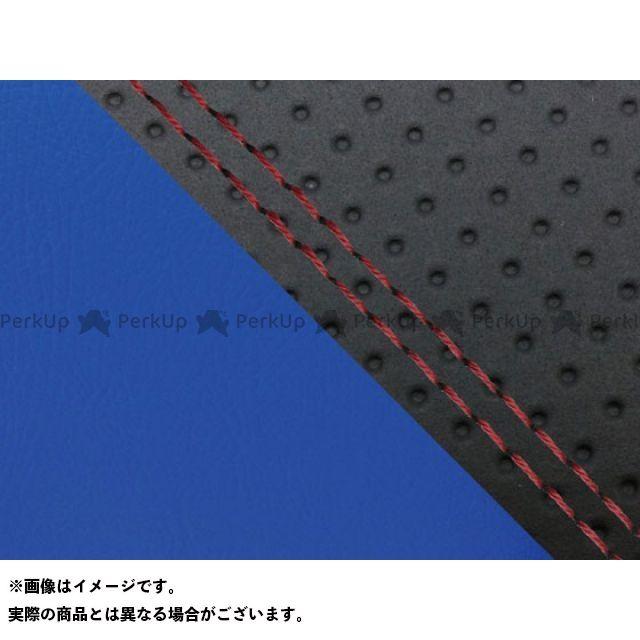 グロンドマン MT-09 MT-09/FZ-09 国産シートカバー エンボス黒&青 タイプ:張替 仕様:赤ダブルステッチ Grondement