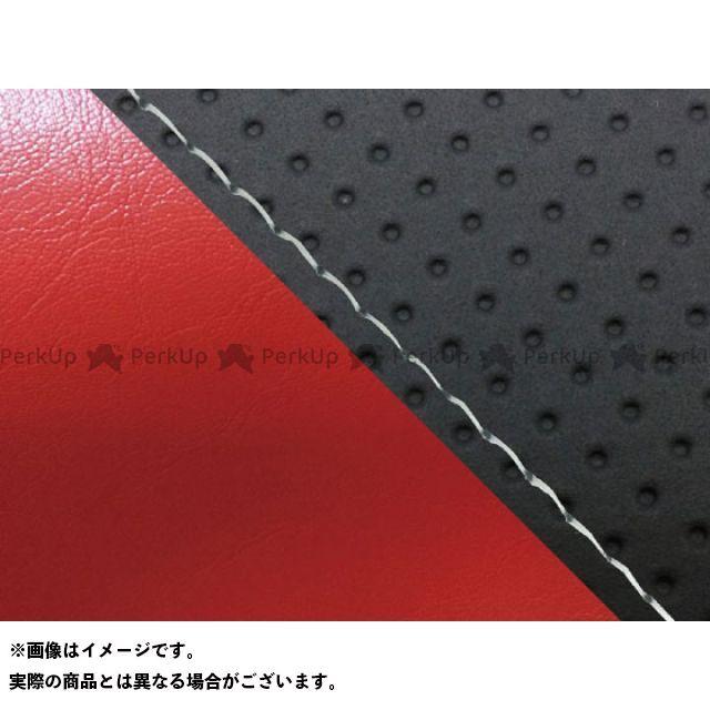 グロンドマン MT-09 MT-09/FZ-09 国産シートカバー エンボス黒&赤 タイプ:張替 仕様:透明ステッチ Grondement
