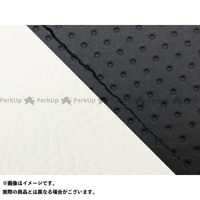 グロンドマン MT-09 MT-09/FZ-09 国産シートカバー エンボス黒&白 タイプ:張替 仕様:黒ステッチ Grondement
