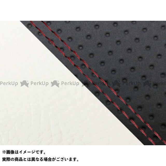 グロンドマン MT-09 MT-09/FZ-09 国産シートカバー エンボス黒&白 タイプ:張替 仕様:赤ダブルステッチ Grondement