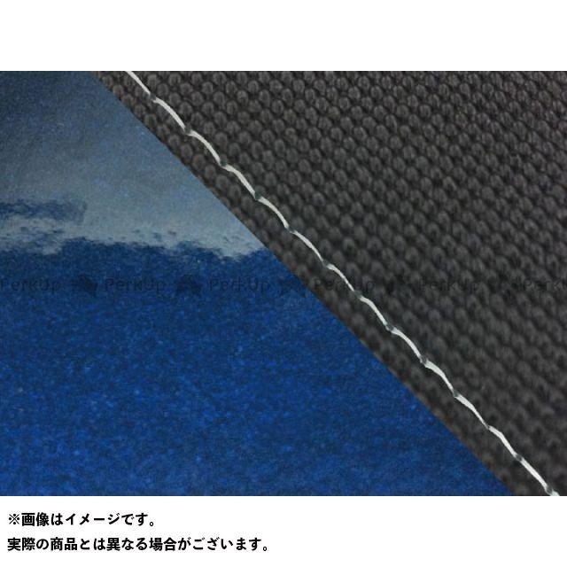 グロンドマン MT-09 MT-09/FZ-09 国産シートカバー スベラーヌ黒&エナメルメタリック青 タイプ:張替 仕様:透明ステッチ Grondement